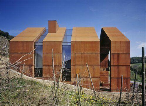Corten Steel House Exteriors Pinterest
