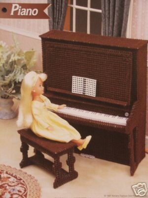 Plastic Canvas Barbie Fashion Doll Pattern PIANO & by SureShopping, $4