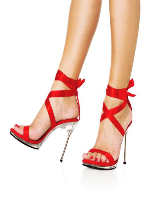 charming and stunning red high heel shoes for women
