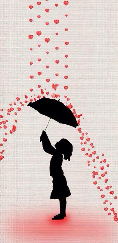 Raining of hearts on s...