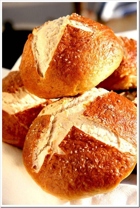 homemade pretzel buns for burgers | FOOD | Pinterest
