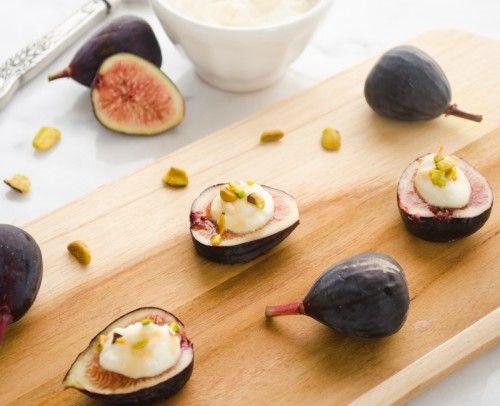 Fresh Fig Bites with Ricotta, Pistachios, and Honey Sherry Glaze ...