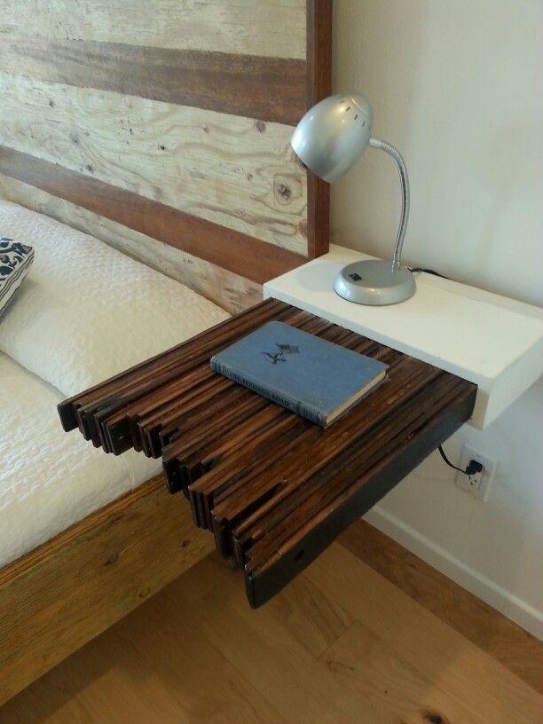 Floating side table craft ideas pinterest for Floating side table diy