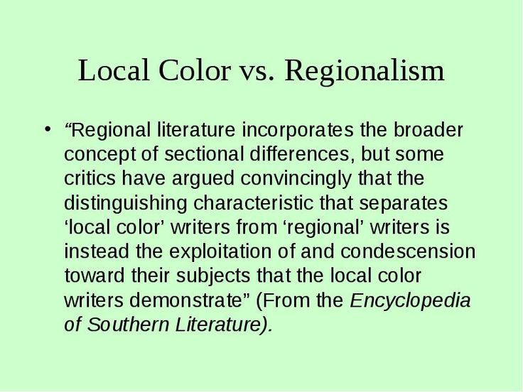 american lit regionalism gothic fiction and naturalism essay That's the essence of naturalism, a literary movement to fiction in fact, dreiser based an american in literature: authors and characteristics.