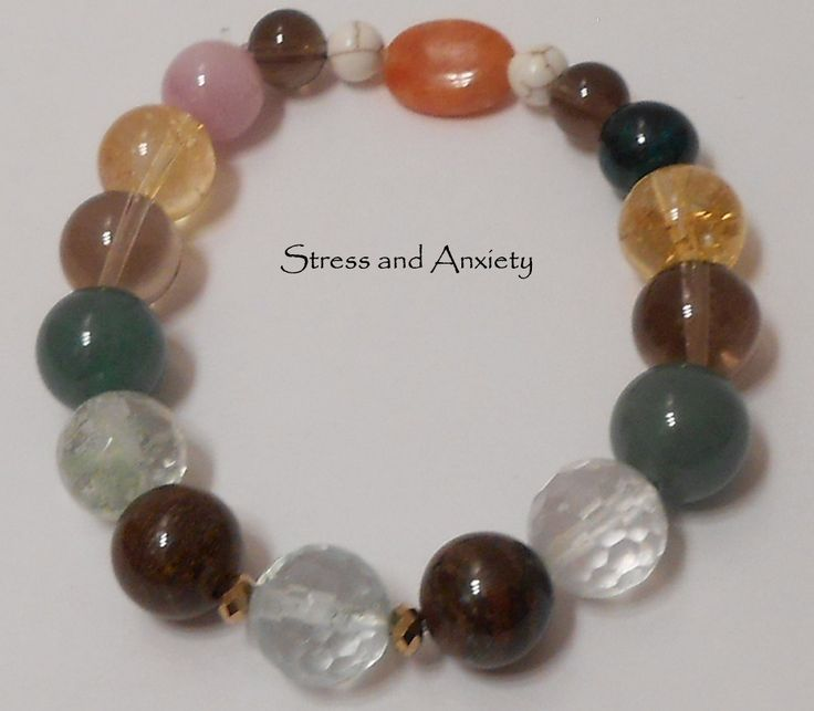 healing power gemstone bracelet 7 1 2 quot stress
