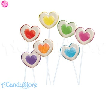 Hearts Lollipops Two Tone 120ct - Twinkle Pops | ACandyStore.com