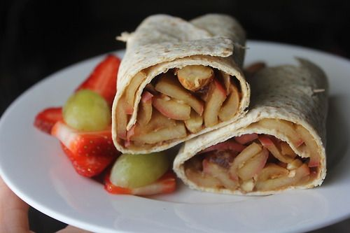 Apple pie wrap' I chopped and pan-fried a pink lady apple with a ...