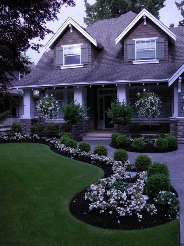 Front yard landscape design for the home pinterest for Front yard landscaping