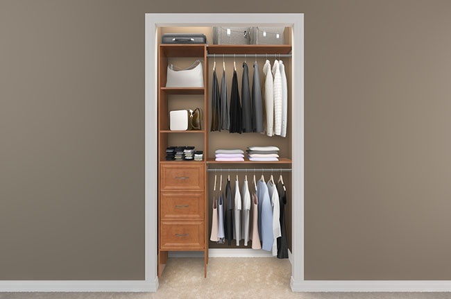 Fancier small closet solution spectacular spaces pinterest - Wardrobe solutions for small spaces paint ...