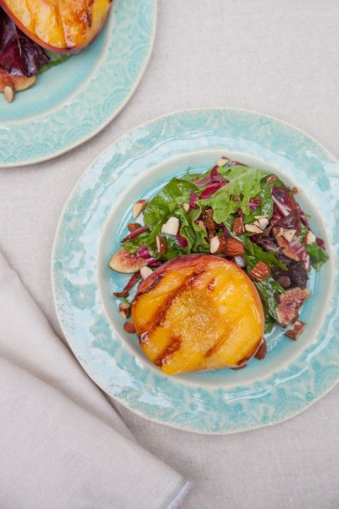 Grilled peach and fig salad paleo food pinterest