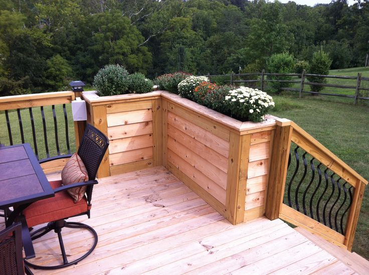 diy deck planter brian 39 s honey do list pinterest