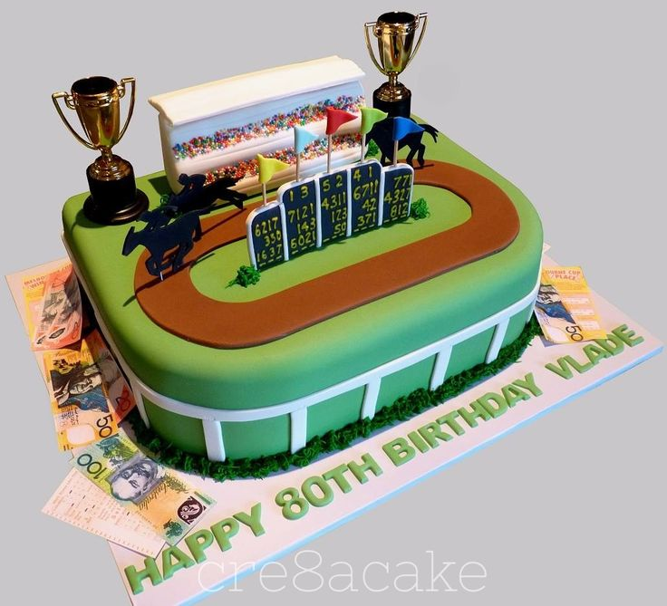 Cake Decorations Horse Racing : Horse Racing Cake Cake decoration Pinterest