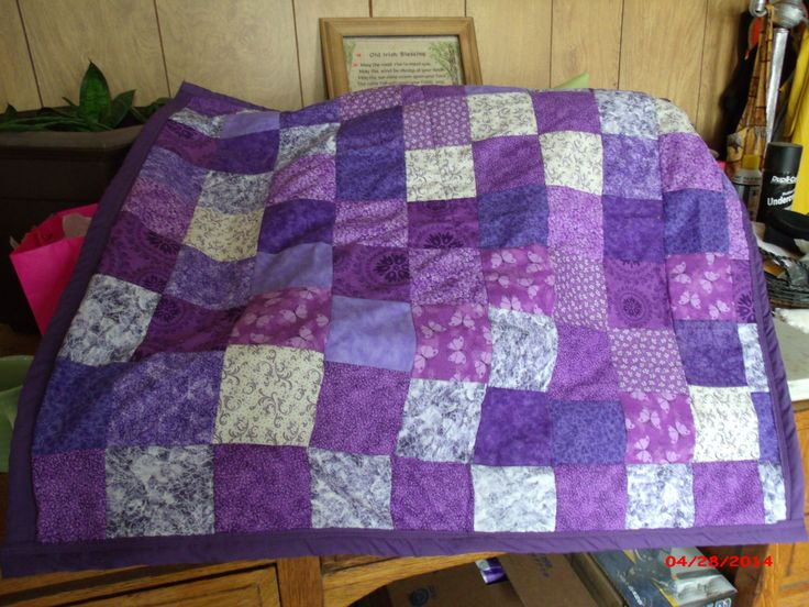 Purple lap quilt front   365 Day Photo Challenge   Pinterest