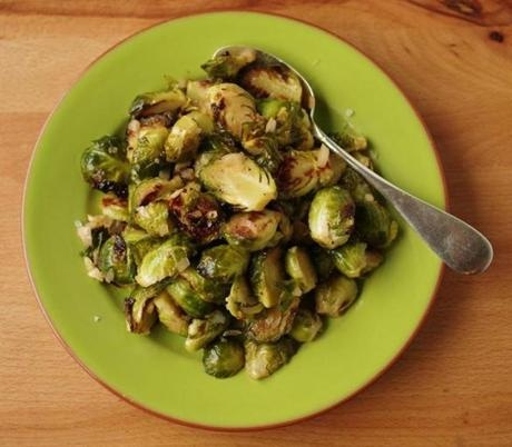 Recipe for Maple-glazed Brussels sprouts - The Boston Globe