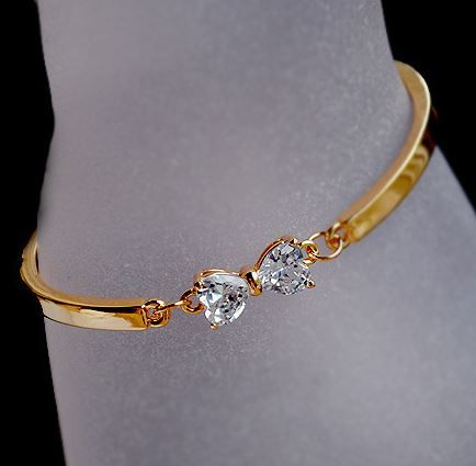 Full Rhinestone Bow Bangle | LilyFair Jewelry,$21.99!