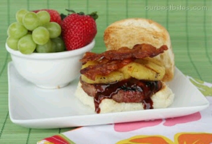 Pineapple bacon burger | Let's Share Recipes | Pinterest