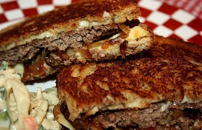 Classic Patty Melt - A diner classic, made with very thin, oval shaped ...