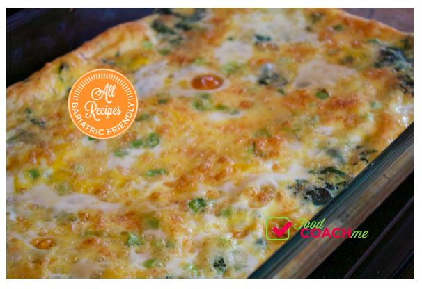 Spinach & Mozzarella Egg Casserole - Food Coach Me Weight Loss Surgery ...