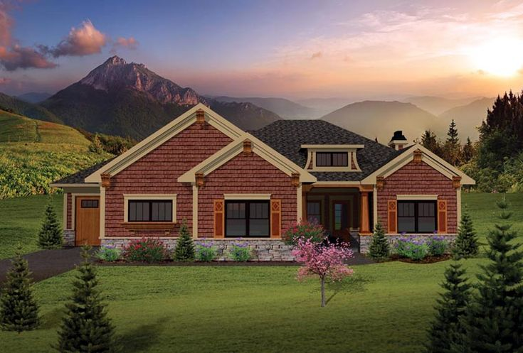 Craftsman ranch house plan 73137 for Ranch house elevations