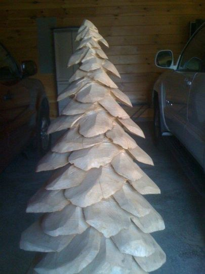 Chainsaw carved pine tree woodcarving pinterest