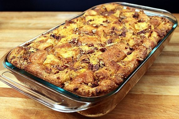 Overnight Pumpkin Pecan Croissant Bread Pudding