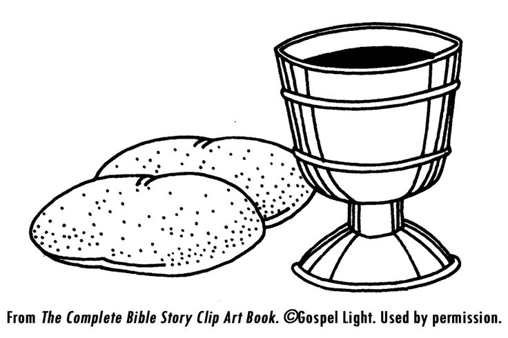 Bread And Wine Coloring Pages