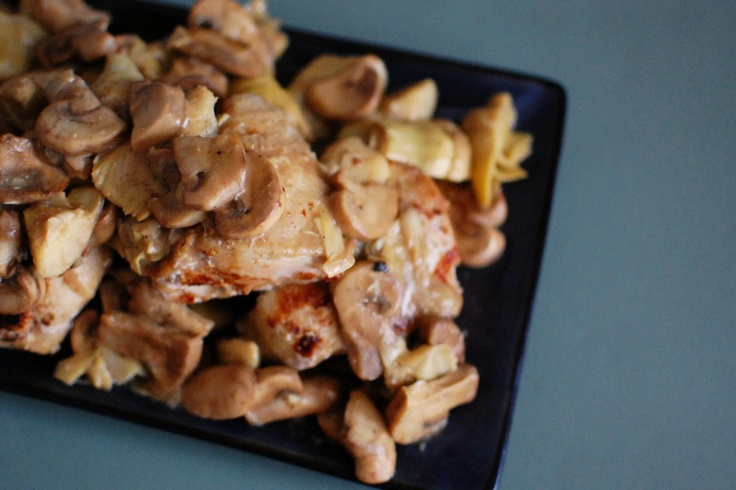 Chicken and Artichokes in Wine Sauce | Beantown Baker