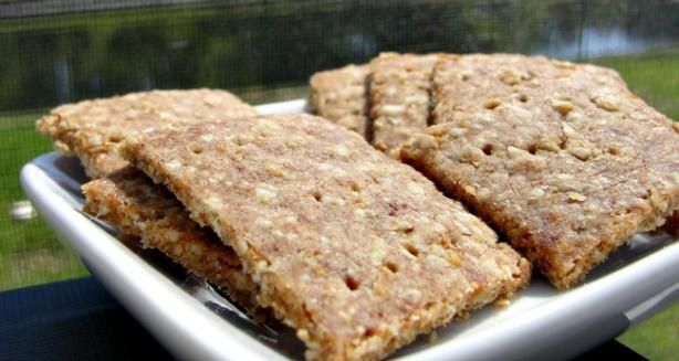 Oatmeal Wheat Crackers -with cornflour