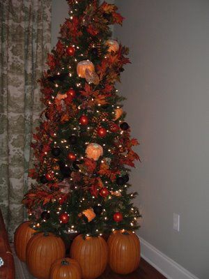 My Indoor Autumn Decorated Tree Autumn Pinterest