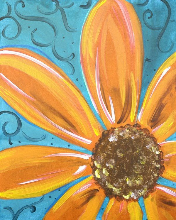 Things To Paint Daisy Flower Wood Door Pinterest