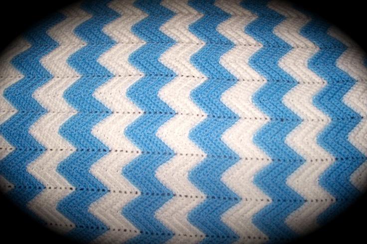 Baby blanket boy ripple stitch baby amp lap blankets crochet pi