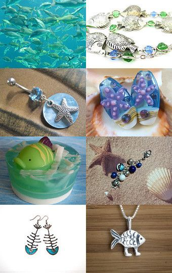 Here Fishy , Fishy! by mama chei on Etsy--Pinned with TreasuryPin.com
