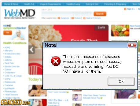 Hilarious website warnings that ought exist.