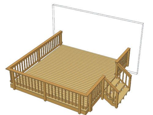 Best 14 X 16 Deck W Wide Stairs At Menards Home Pinterest 400 x 300