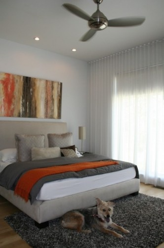 Gray burnt orange master home sweet home pinterest - Grey and burnt orange rooms ...