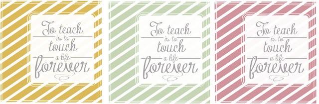the letter 4: Teacher Gift Tag Printable