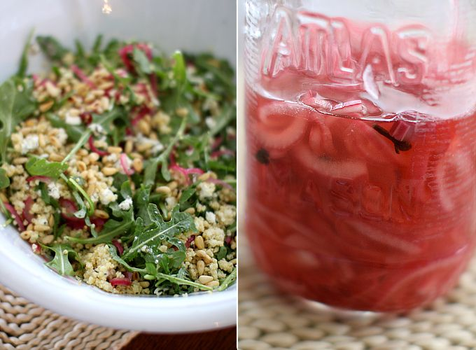 Toasted Millet Salad with Quick Pickled Onions
