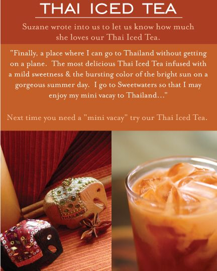 Sweetwaters Thai Iced Tea | Indulge In Greatness | Pinterest