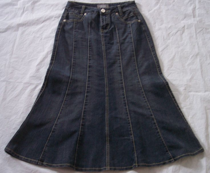 motto stretch denim skirt size 4 flared tulip