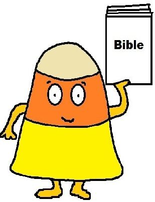 Candy Corn Sunday School Lesson (Psalms 104:34) Comes with matching materials like a candy corn toilet paper roll craft, candy corn coloring page, activity page, snacks, bookmarks and more.