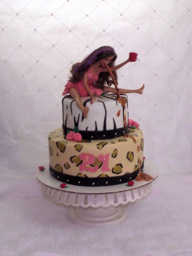 barbie throw up cake