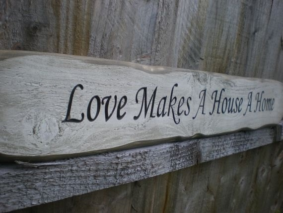 Rustic sign  A Sign by rustic at home A Wood House ArkWood Folksy.com Makes Love Home