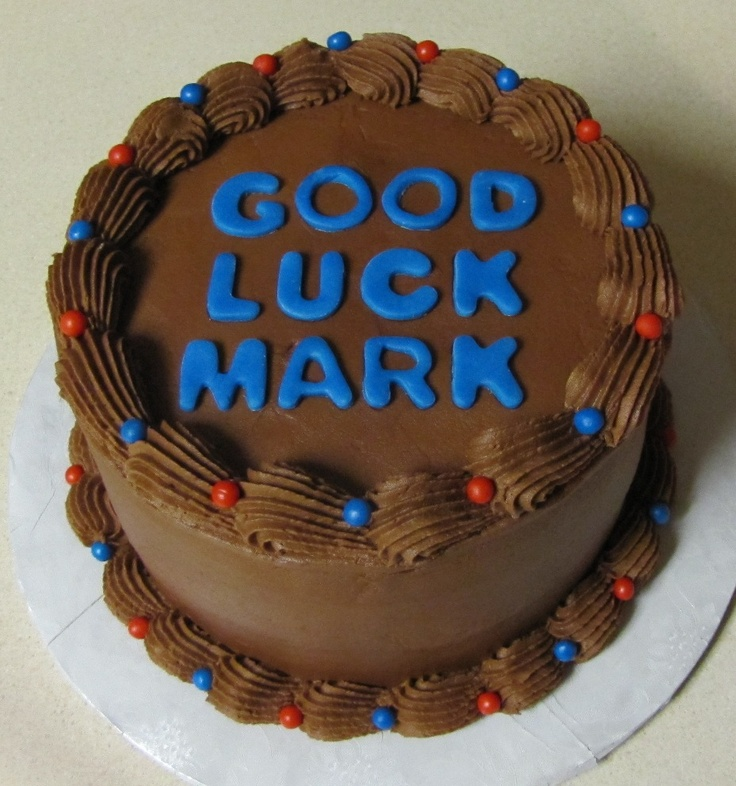 French vanilla cake with Chocolate Mocha Icing; fondant letters and ...
