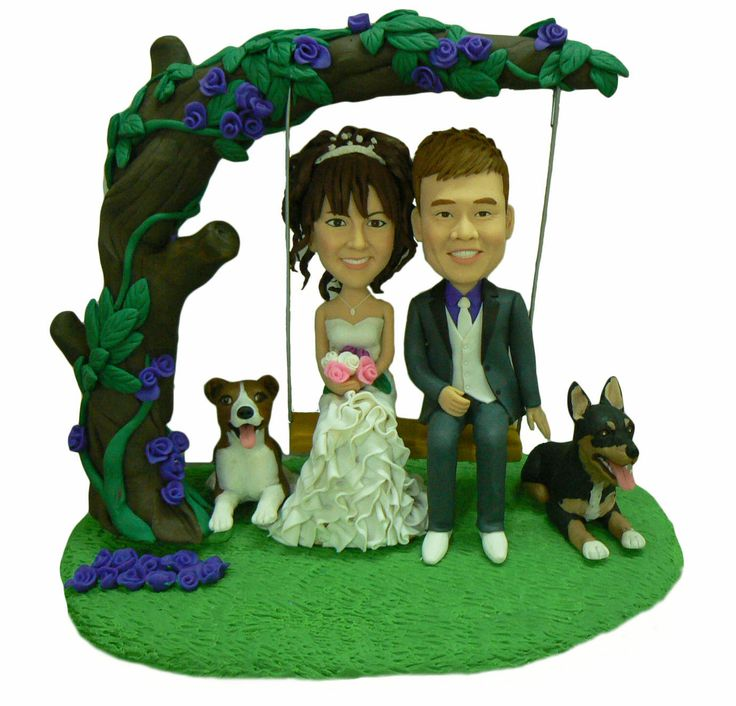 Swing set cake toppers for wedding