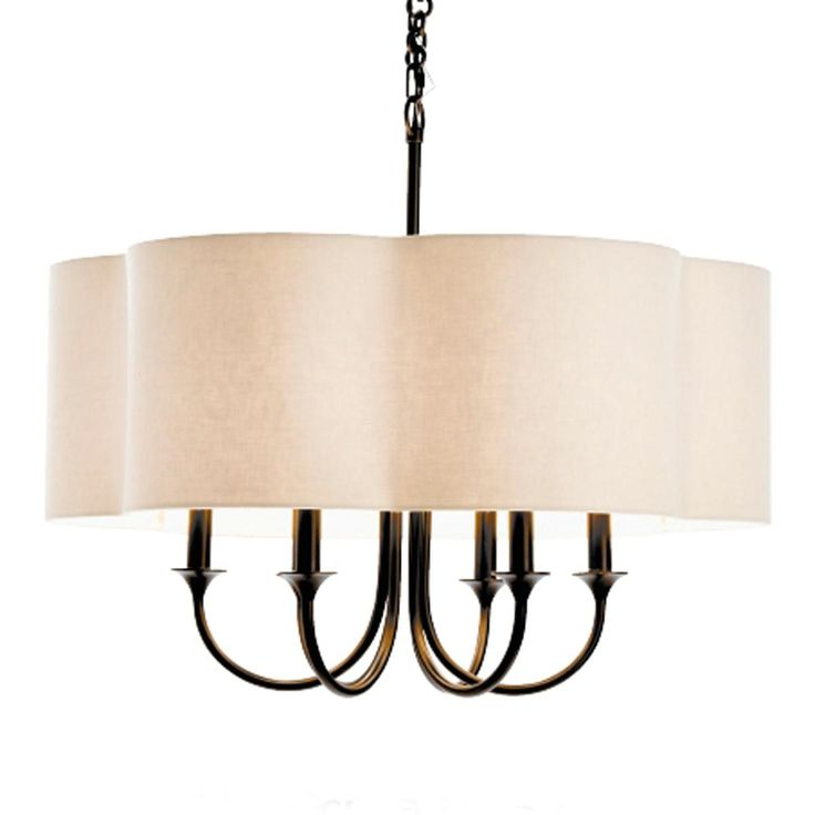mod pendant shade chandelier 6 light available in 2 colors bronze w