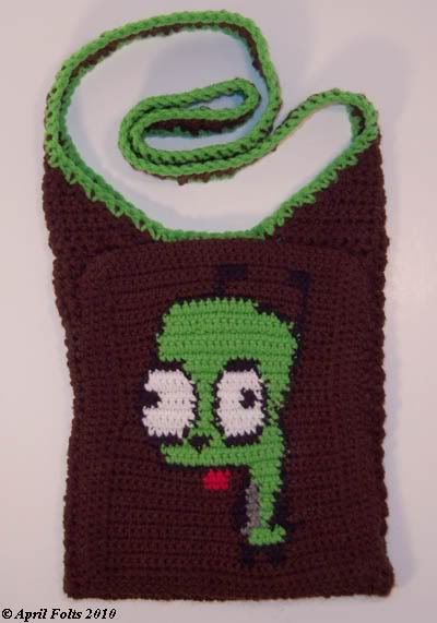 Crochet Invader Zim Patterns : GIR bag (Invader Zim) *Pattern Included* - CROCHET