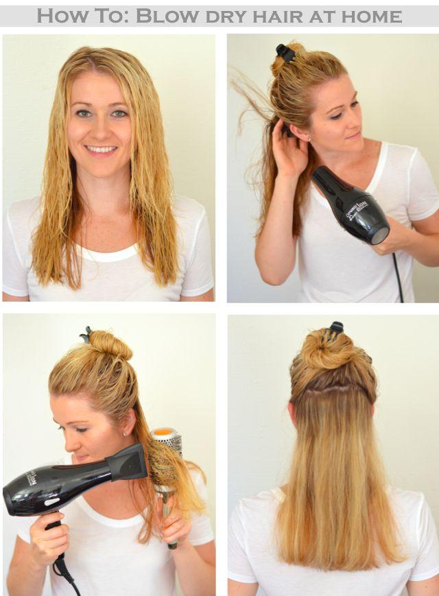 Как сделать укладку с феном на средние волосы 109