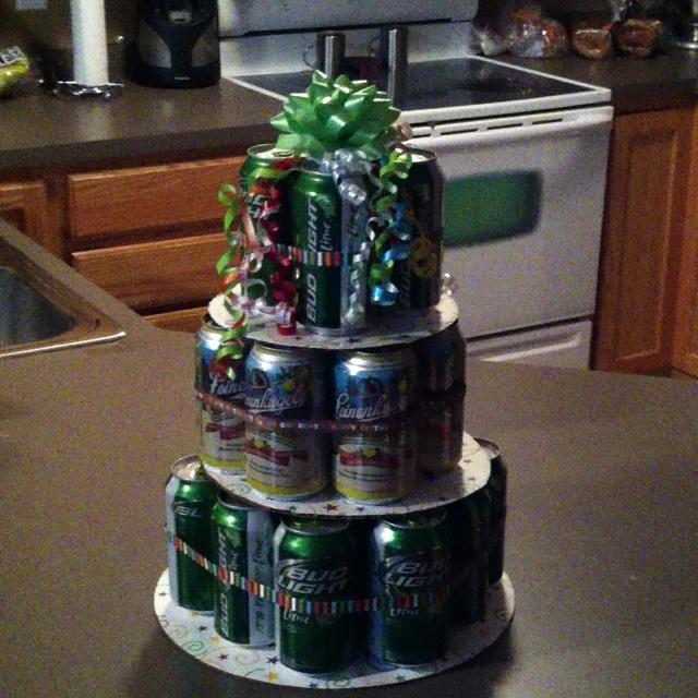 Happy birthday craft beer cake - photo#24