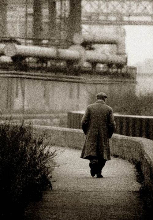 John Claridge Going to work, East End of London, 1959.