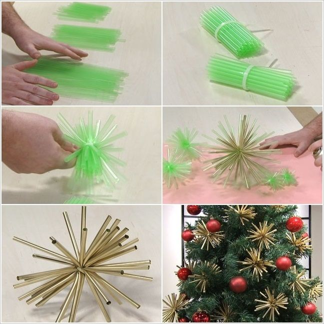 Straw Ornaments For Your Christmas Tree.